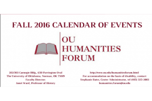 OU Humanities Forum