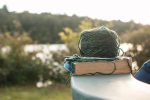 yarn and a book