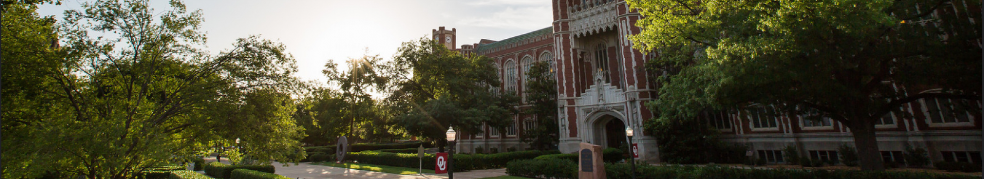 South entrance of the Bizzell Memorial Library.