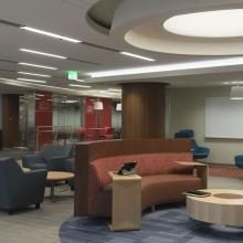 A photo of the helmerich collaborative learning center