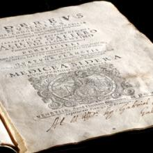 A photo of an old history of science manuscript