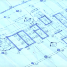 A photo of blueprints