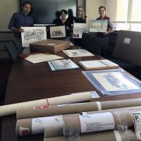 College of Architecture team with American School Archive donations